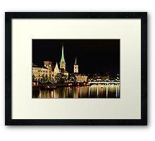 Zurich at Night Framed Print