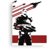 N7- Commander Shepard (Male) Canvas Print