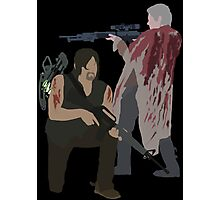 Carol Peletier and Daryl Dixon (Version 2) - The Walking Dead Photographic Print