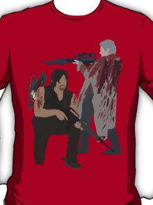 Carol Peletier and Daryl Dixon (Version 2) - The Walking Dead T-Shirt