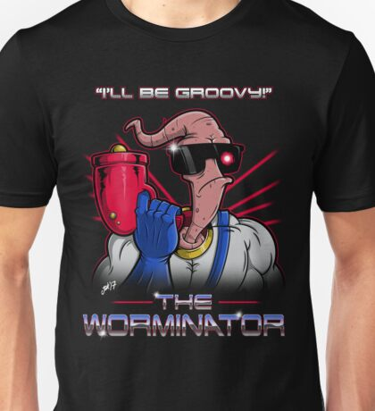 The Worminator- Earthworm Jim T-Shirt Design Unisex T-Shirt