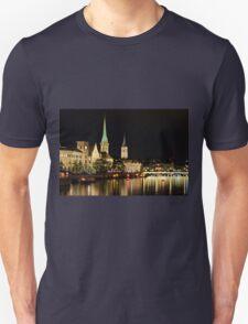 Zurich at Night Unisex T-Shirt