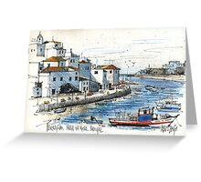Ferragudo, Praia da Rocha, Portugal Greeting Card