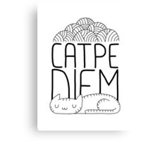 CATPE DIEM Canvas Print