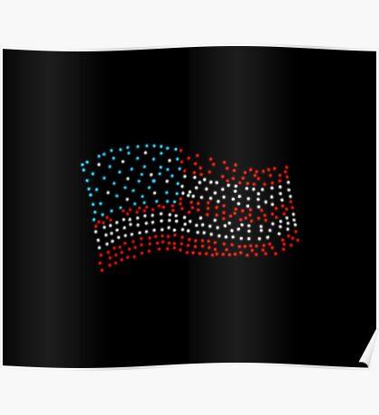 Flag of stars - Super Bowl 51 Poster