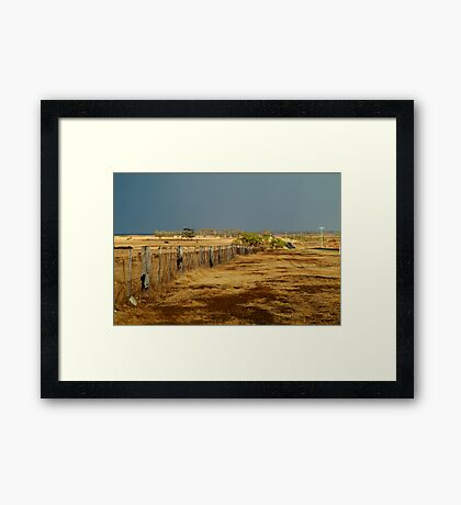 Country Road,Rural Geelong Framed Print