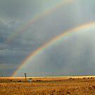 Rain and Rainbows,Rural Geelong by Joe Mortelliti