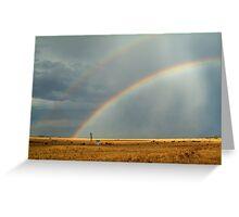 Rain and Rainbows,Rural Geelong Greeting Card