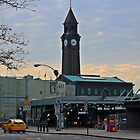 N J Transit's Clock Tower Hoboken NJ by pmarella