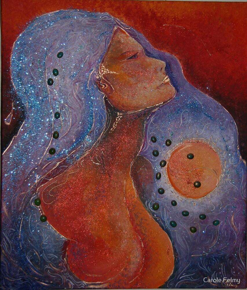 Orange moon by Carole Felmy