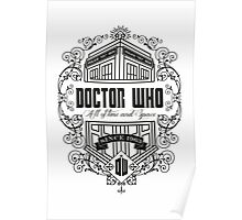 Doctor Who All the Time and Space Vintage Poster