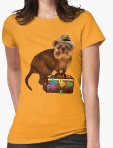 Traveller // quokka Womens Fitted T-Shirt