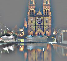 Producing fog around the cathedral ... by Achim Casties