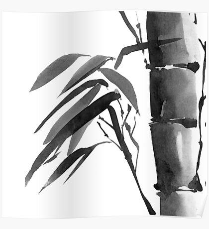 Bamboo tree. Poster