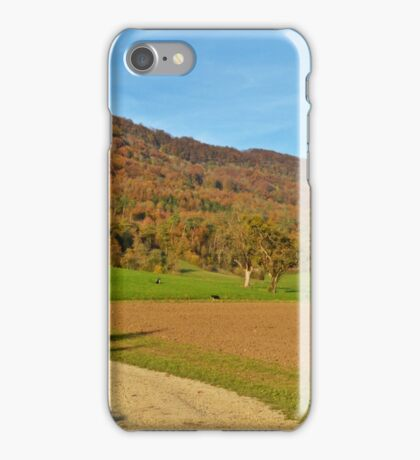 A Rural Pathway during Autumn  iPhone Case/Skin