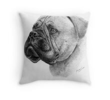 Bullmastif Throw Pillow