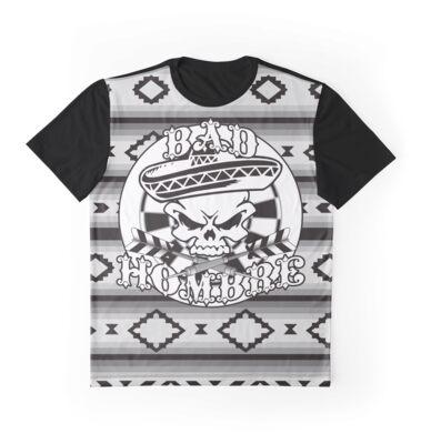 Bad Hombre Darts Shirt Greyscale