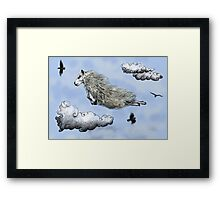 Flying sheep Framed Print