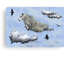 Flying sheep Canvas Print