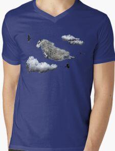 Flying sheep Mens V-Neck T-Shirt