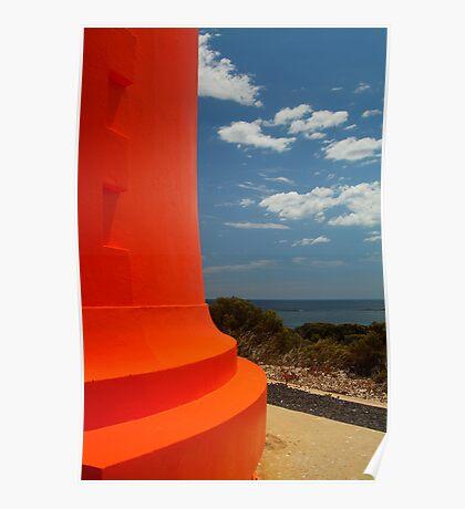 Red Lighthouse Carpenter Rocks S.A. Poster