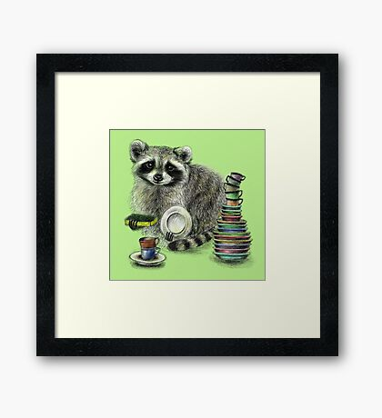 Master of Dishes Framed Print