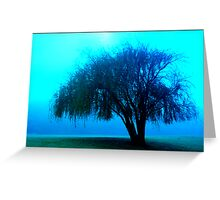 Willow tree blue Greeting Card