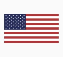 American Flag, Stars & Stripes, Pure & Simple, America, USA One Piece - Short Sleeve