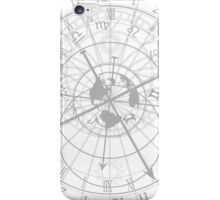 astronomical clock with zodiac signs iPhone Case/Skin