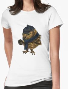 Sherlock // owl Womens Fitted T-Shirt
