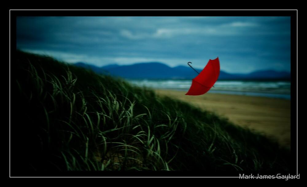 red umbrella by Mark James Gaylard