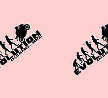Biker Evolution Eat, Sleep, Rev... Repeat Pink mug by outlawalien