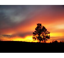 Sunset in da country Photographic Print