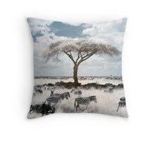Infrared acacia Throw Pillow