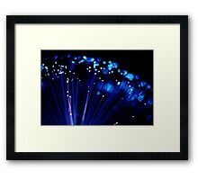 Fibre Optic Lights & Bokeh (#9729) Framed Print