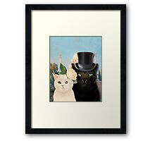 Charming Cats Wedding  Framed Print