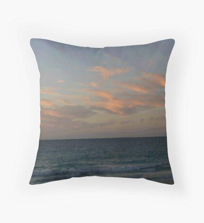 Sunset at Port Beach Throw Pillow
