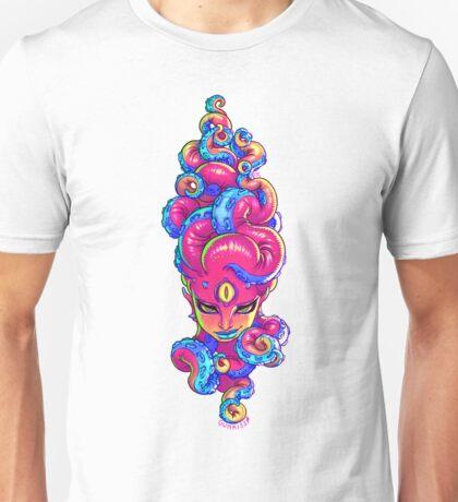 Tentacle Demoness (PINK version) Unisex T-Shirt