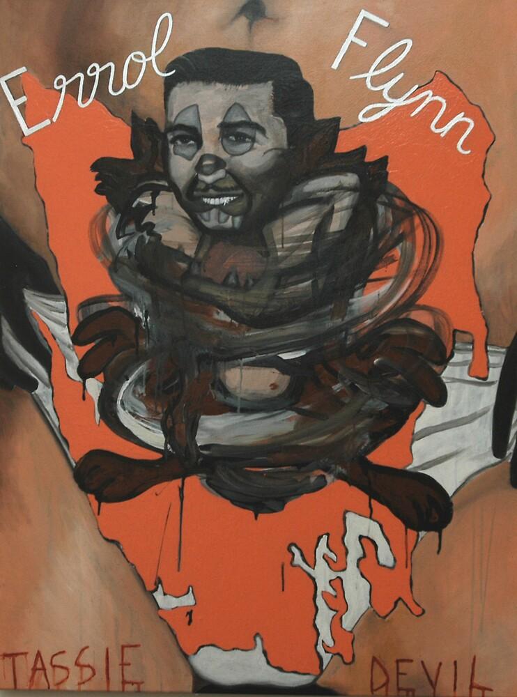 Errol Flynn by Tom Dunn