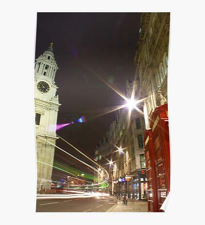 London / Bus / St. Pauls, England, UK * Poster