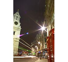 London / Bus / St. Pauls, England, UK * Photographic Print
