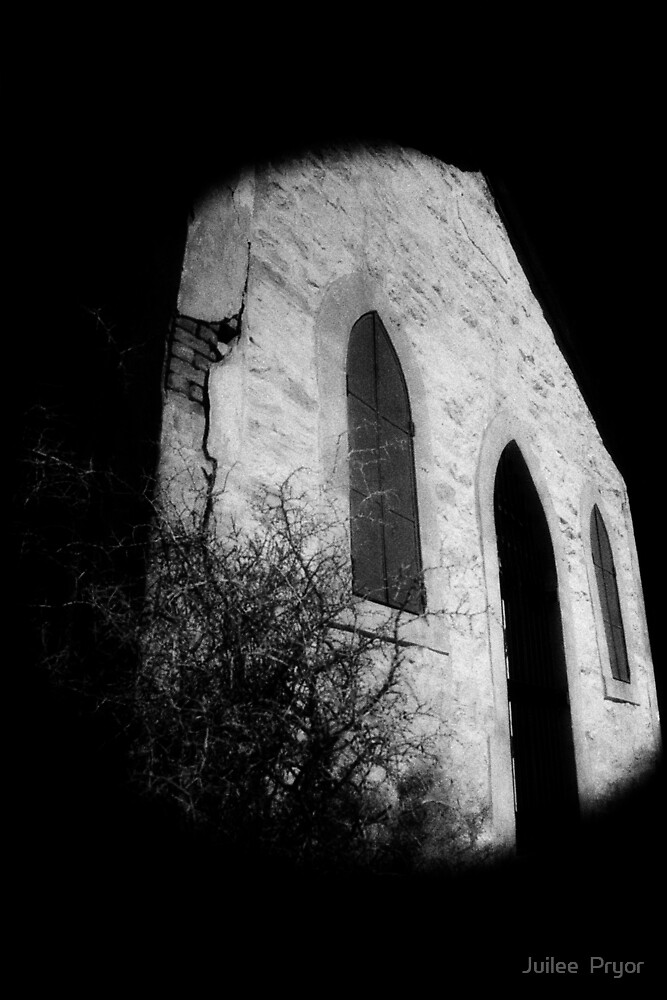 abandoned church Broken Hill infrared by Juilee  Pryor