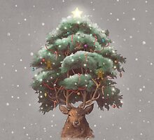 Reindeer tree  by Terry  Fan