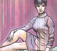Yvonne In Stripes by Robert Votta