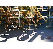 Cafe chairs Photographic Print