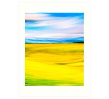 Golden Farm Fields Of England In Spring Art Print