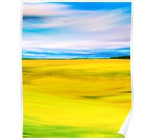 Golden Farm Fields Of England In Spring Poster