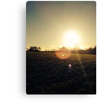 Nice sun set Canvas Print