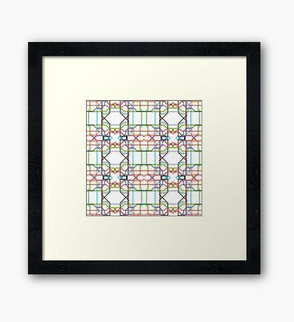 Tube Lines Framed Print