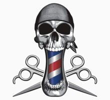 Barber Skull and Scissors by dxf1969
